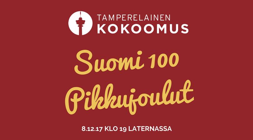 Suomi 100 Pikkujoulut banneri